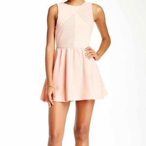 Blush mini dress